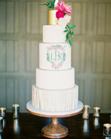 monogram wedding cake rachel solomon heartsweet cakes