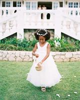 porsha terry wedding jamaica flower girl aisle