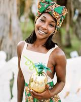 porsha terry wedding jamaica sister african dress