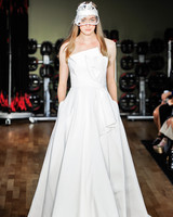 rivini by rita vinieris wedding dress fall 2018 strapless architectual pockets bow ball gown