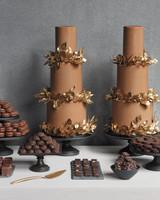 Chocolate Buttercream Wedding Cakes