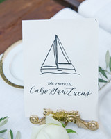 sailboat table numbers