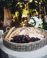 summer wedding detail shannon leahy bread fruit tray