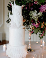 Geometric designed wedding cake