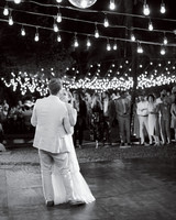 ariel trevor wedding tulum mexico first dance couple bride group lights