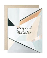"""See You At The Altar"" Greeting Card"