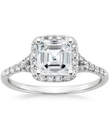 Brilliant Earth Asscher-Cut 18K White Gold Harmony Diamond Ring