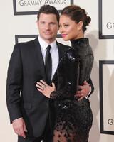 celebrity couple nick vanessa black formal attire