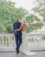 christina matt wedding charleston sc couple porch