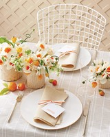 Orange and White Table Setting
