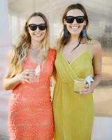 laura john wedding massachusetts guests cocktails