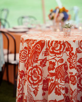 Floral Linens at a Wedding