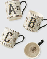 personalized gift monogram tiled mugs