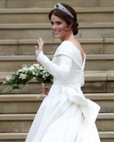 princess eugenie waving at royal wedding