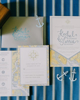 Compass and Nautical Map Stationery