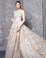 romona keveza fall 2018 blush embroidered ball gown