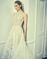 romona keveza collection wedding dress spring 2018 halter lace