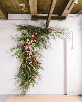 sara ryan wedding philadelphia floral installation