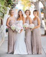 scalloped wedding decor bridesmaids dresses