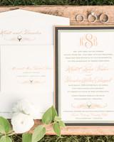 golf ball themed wedding invitations