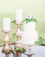 cake with golf ball topper