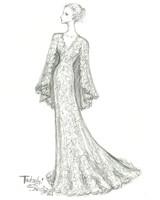 tadashi shoji wedding dress sketch