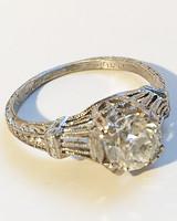 Stone Fox Bride vintage 1920s art deco engagement ring