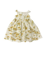 summer flower girl dress pattern yellow flowers