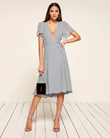 reformation frances knee-length dress