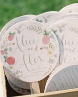 circular fans with floral motif