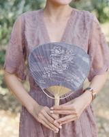 cloth ceremony program fan