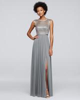 winter bridesmaid dress davids bridal metallic