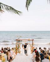 ariel trevor wedding tulum mexico chuppah vows