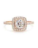Beverly K Rose Gold Cushion-Cut Diamond Engagement Ring