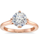 Blue Nile East-West Solitaire Engagement Ring in Rose Gold