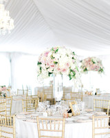 Flower-Filled Garden Wedding Reception Tent