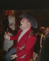 James Corden as Cowboy at Wedding of Chris Hardwick and Lydia Hearst