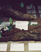 Wood Escort Card Display