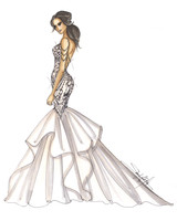maggie sottero wedding dress sketch