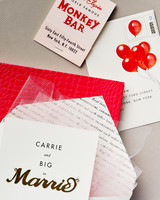 television inspired wedding invites sex and the city