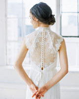 wedding dresses with buttons lace back