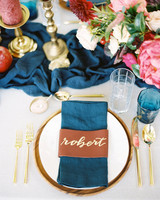 yolanda cedric wedding place setting