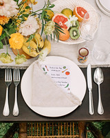 ariel trevor wedding tulum mexico place setting flowers