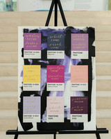 art-inspired wedding ideas pantone seating chart