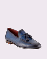 Magnanni for Neiman Marcus Leather Slip-On Loafers with Tassels