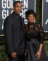 Denzel Washington and Pauletta Washington 2018 Golden Globes