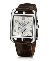 Hermes Cape Cod TGM Watch with Matte Havana Alligator Leather