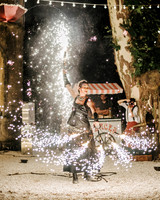 lara kjell circus party sparklers performer