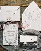 Simple and Elegant Stationery Suite with Thistle Illustrations