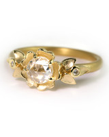 Megan Thorne yellow gold engagement ring with rose cut diamond
